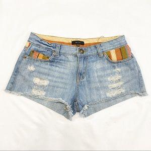 Mine Serape Distressed Bootie Shorts Size Medium